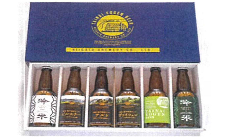 胎内高原ビールと新潟黒豚 胎内ハム3種セット