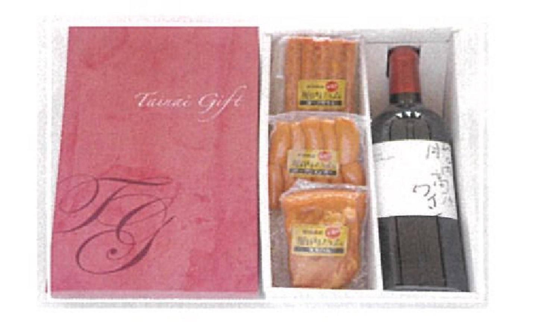 胎内高原ワインと胎内ハム3種セット