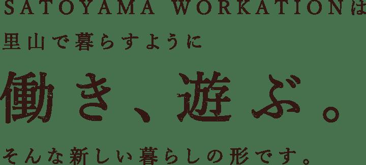 SATOYAMA WORKATIONは里で山で暮らすように働き、遊ぶ。そんな新しい暮らしの形です。