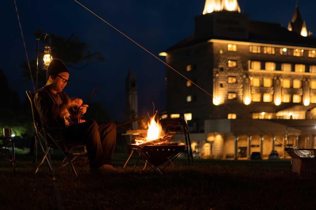週末限定!リゾートホテルで快適温泉キャンプ