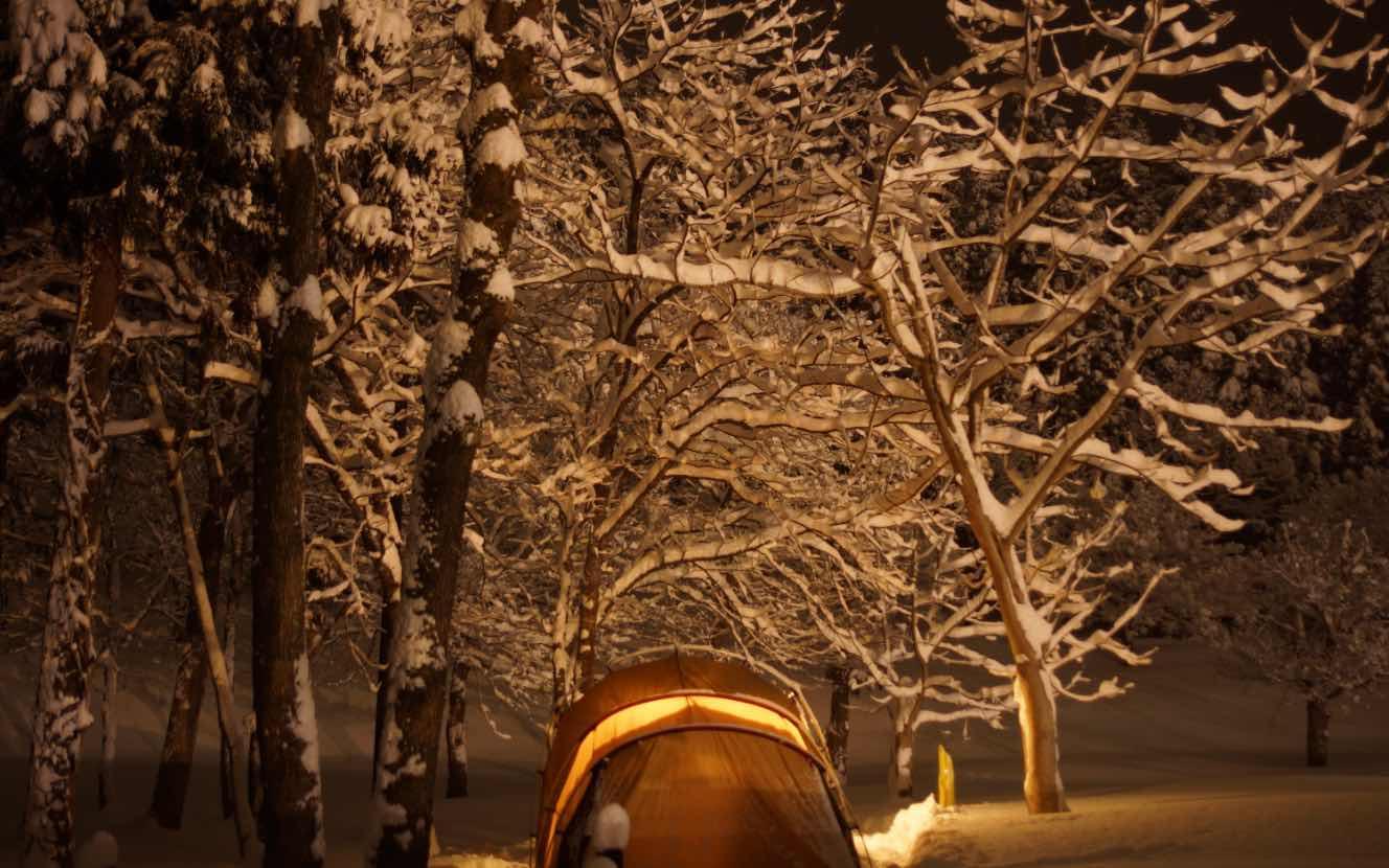 はじめての雪中キャンプ