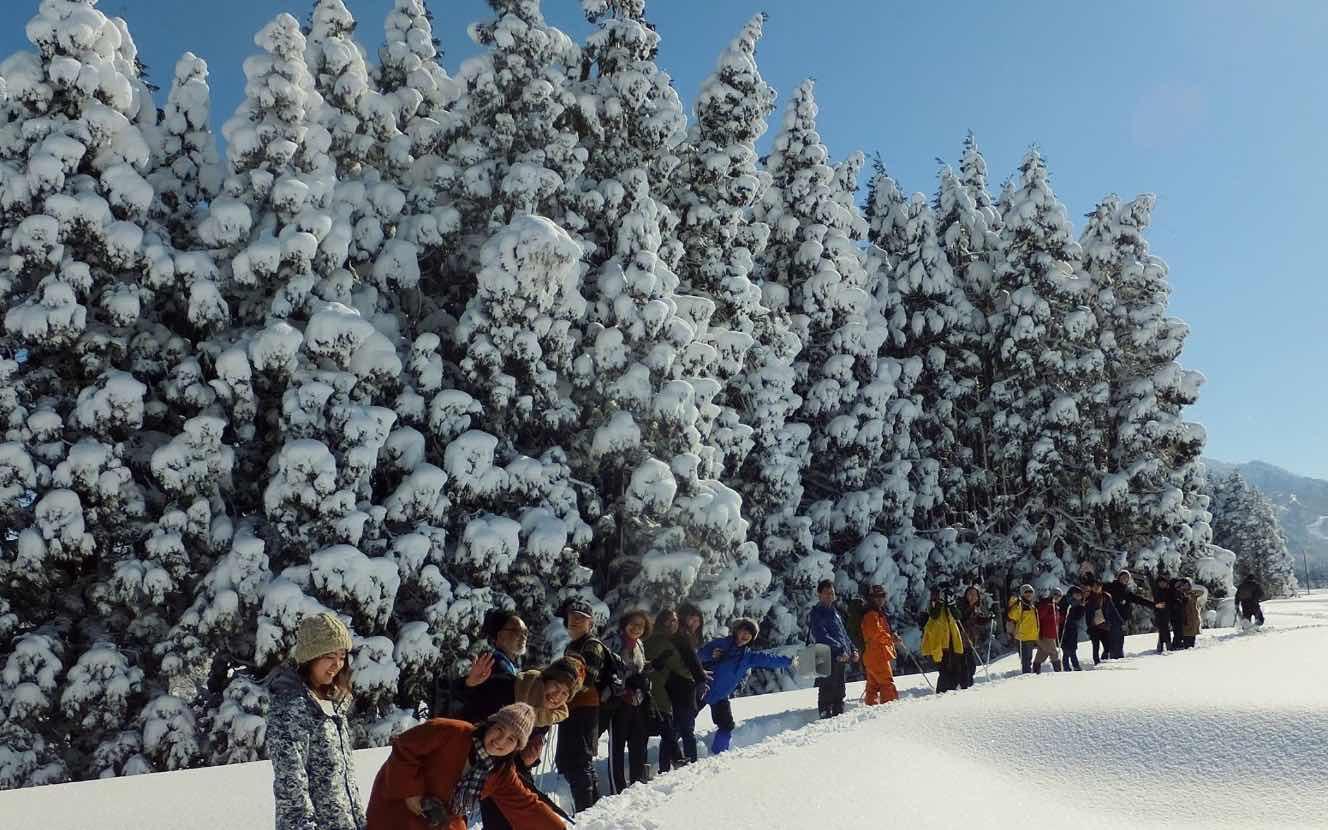 サイノカミと大雪原かんじき雪中行軍